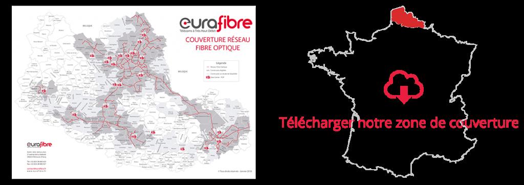 Couverture fibre optique France réseau Eurafibre