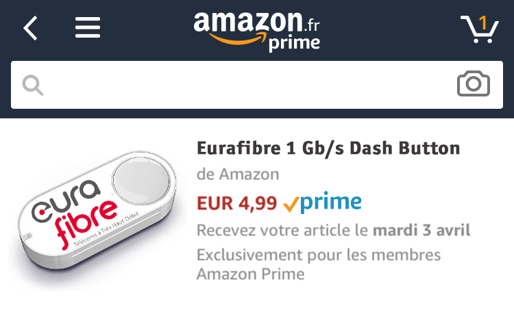 Dash Button Amazon Eurafibre 2018