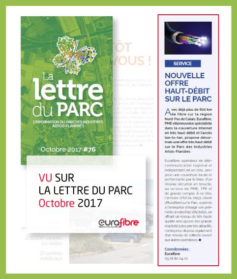 Parution Eurafibre opérateur fibre optique lettre du parc 2017