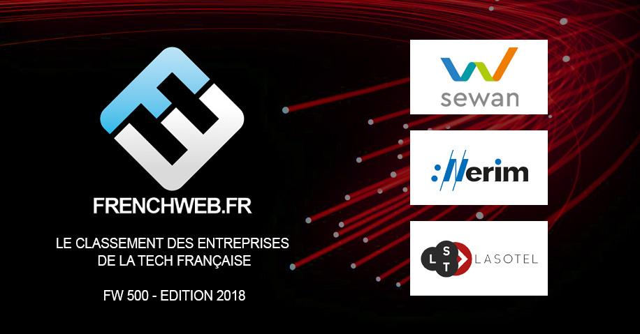 Classement FrenchWeb500 2018 télécom Eurafibre