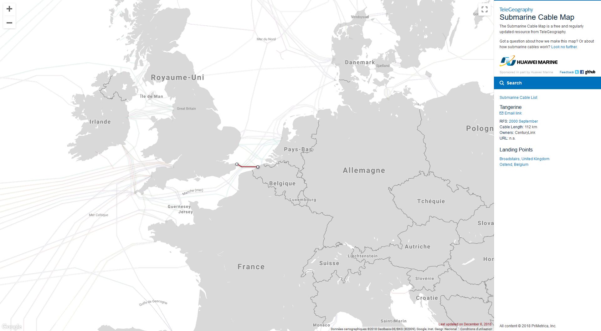 Câble sous-marin réseau Internet_CenturyLink