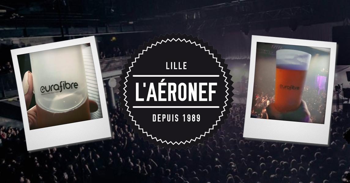 Aéronef salle de concerts Lille opérateur fibre optique Eurafibre