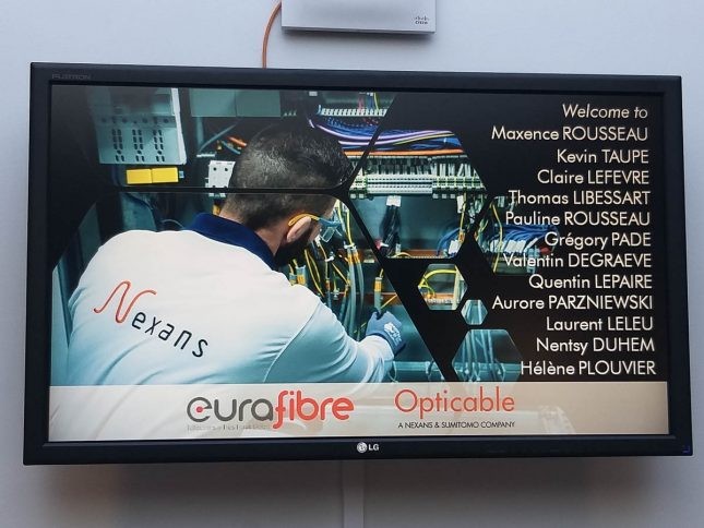 Eurafibre visite Nexans usine Opticable fabrication fibre optique