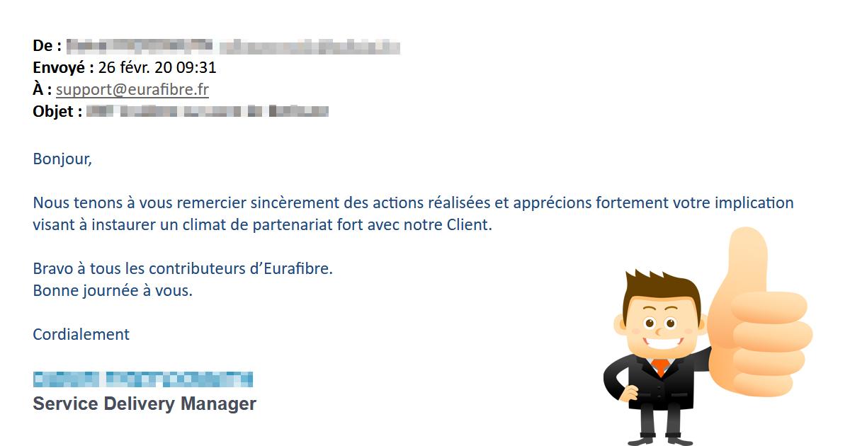 Client Eurafibre satisfait