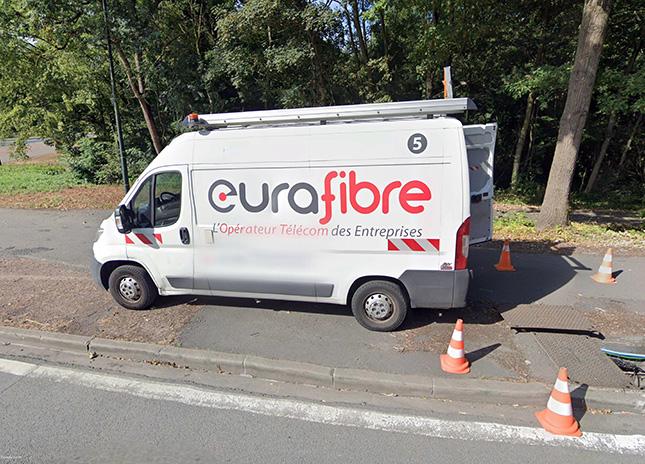 Opérateur télécom fibre optique France Eurafibre Google Earth