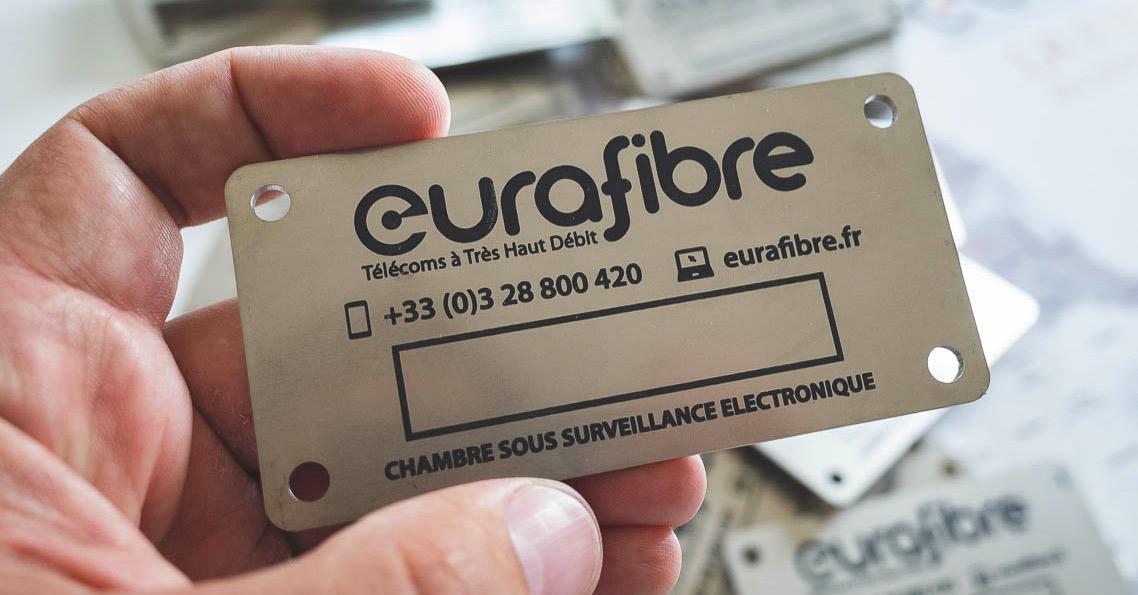 Signalisation chambre télécoms fibre optique Eurafibre