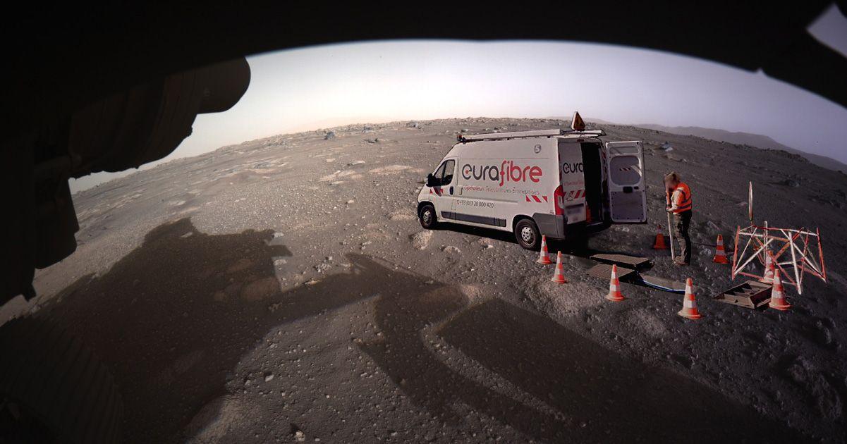 Opérateur fibre optique sur la planète Mars