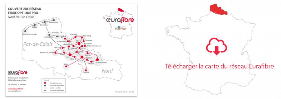 Téléchargez notre zone de couverture fibre optique dans le nord de la France